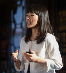 Image of 4 November 2015; Marie Kondo, Author and Organising Consultant, Marie Kondo, on the Society Stage during Day 2 of the 2015 Web Summit in the RDS, Dublin, Ireland